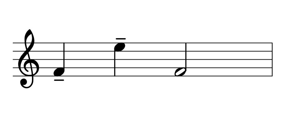 Acento musical: Subrayado (o trazo)