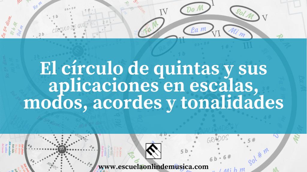 El círculo de quintas y sus aplicaciones en escalas, modos, acordes y tonalidades
